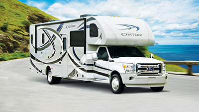 An example of a motorized RV that could be rented through RVezy.com