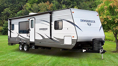 An example of a towable RV that could be rented through RVezy.com